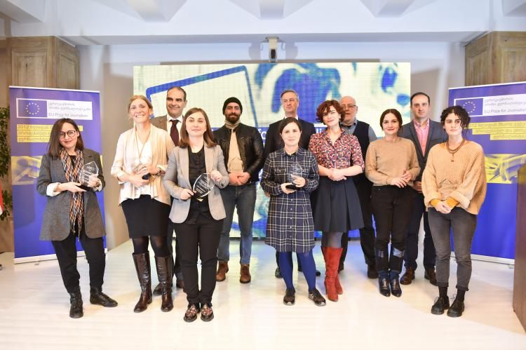 """დასახელდნენ """"ევროკავშირის პრიზი ჟურნალისტიკაში 2018"""" კონკურსის გამარჯვებულები"""