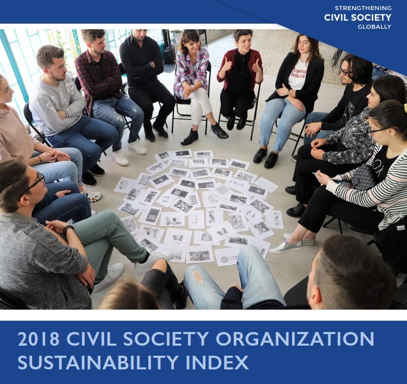 საზოგადოებრივი ორგანიზაციების მდგრადი განვითარების ინდექსი - 2018