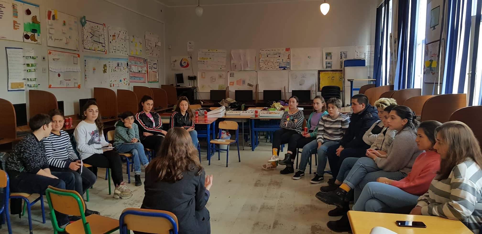 მორიგი საინფორმაციო შეხვედრა მოსწავლეებთან