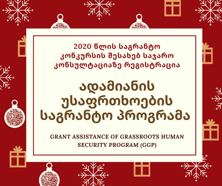 საჯარო კონსულტაცია: ადამიანის უსაფრთხოების საგრანტო პროგრამა