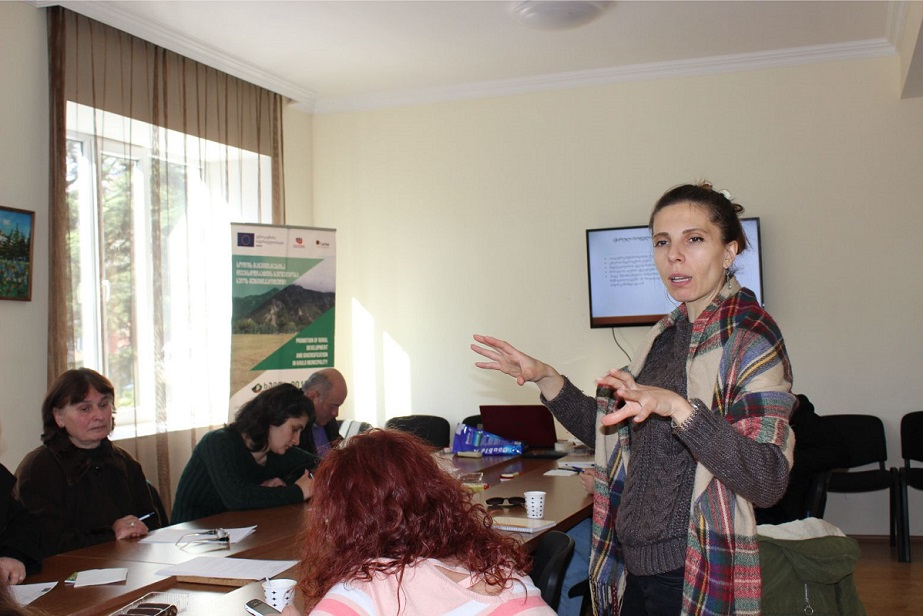 Training in Ecotourism and Agritourism was conducted in Khulo municipality