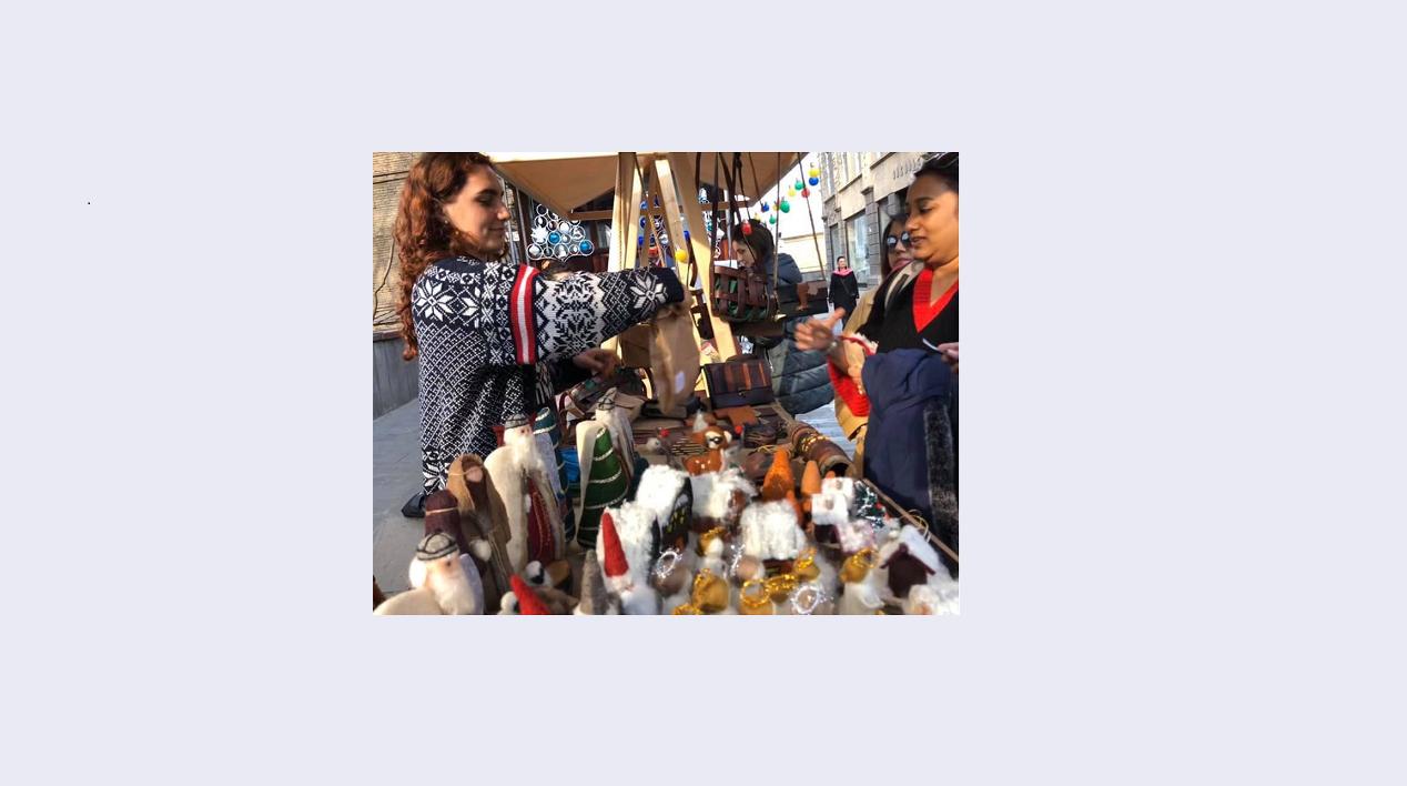 მეწარმე ქალების პროდუქტების საშობაო გამოფენა-გაყიდვა