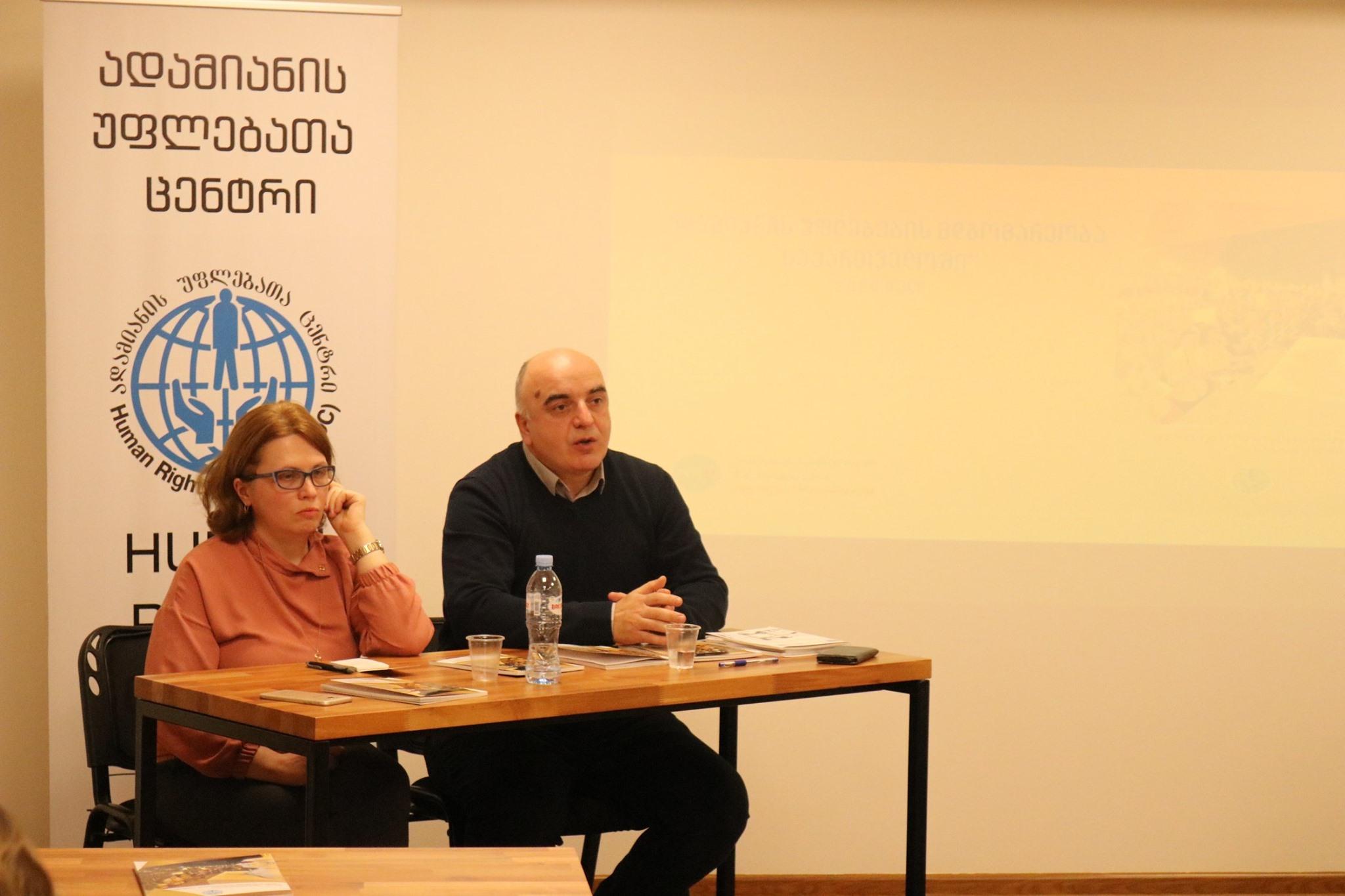 ადამიანის უფლებების მდგომარეობა საქართველოში, 2019
