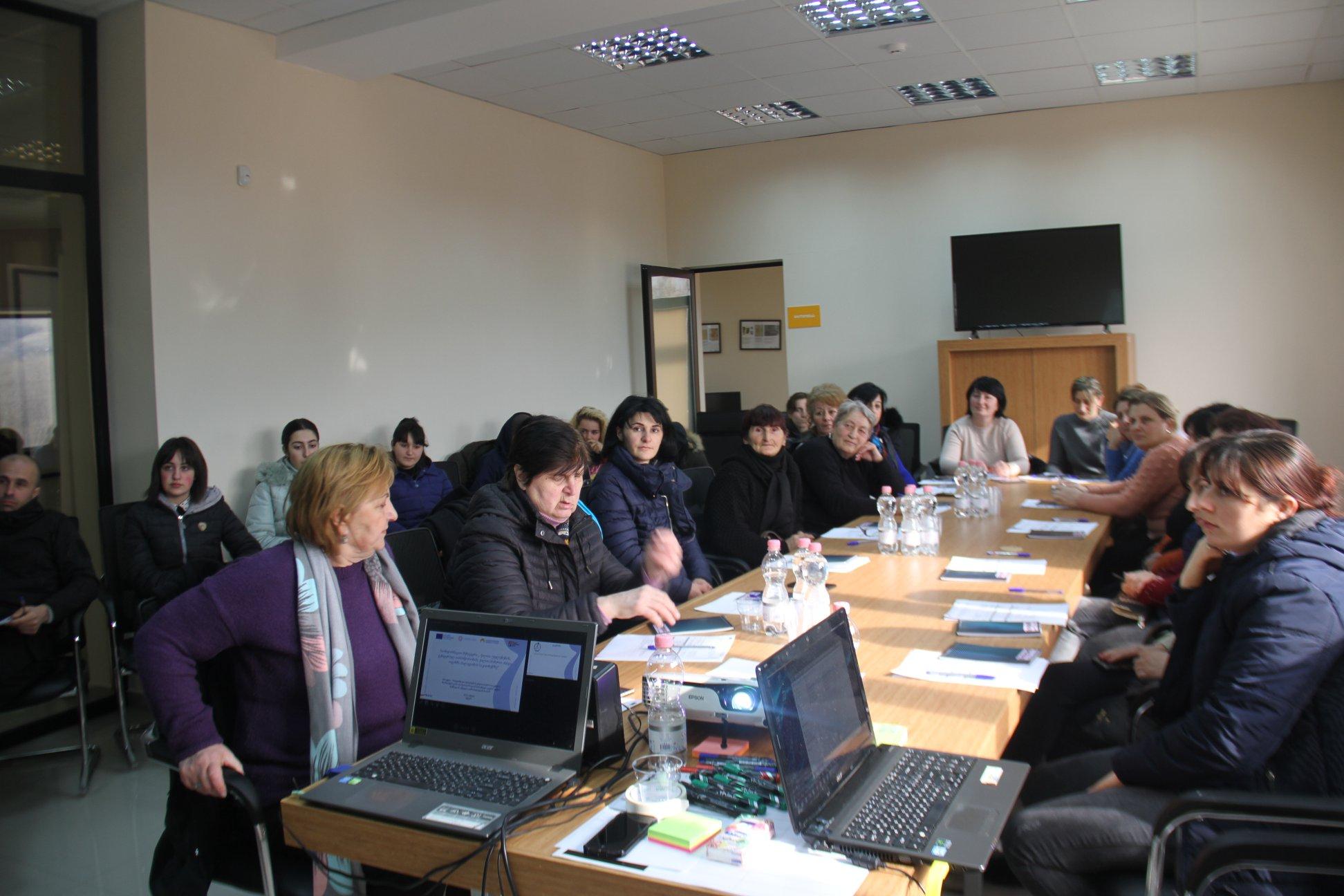 საინფორმაციო შეხვედრა ქალთა უფლებებზე და გენდერულ თანასწორობაზე