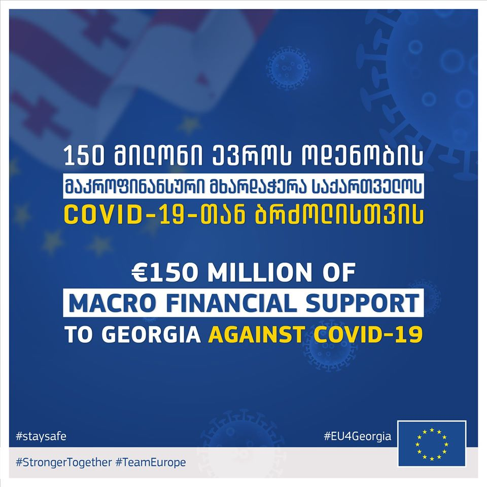The European Commission proposed a €150 million macro-financial assistance package to support Georgia