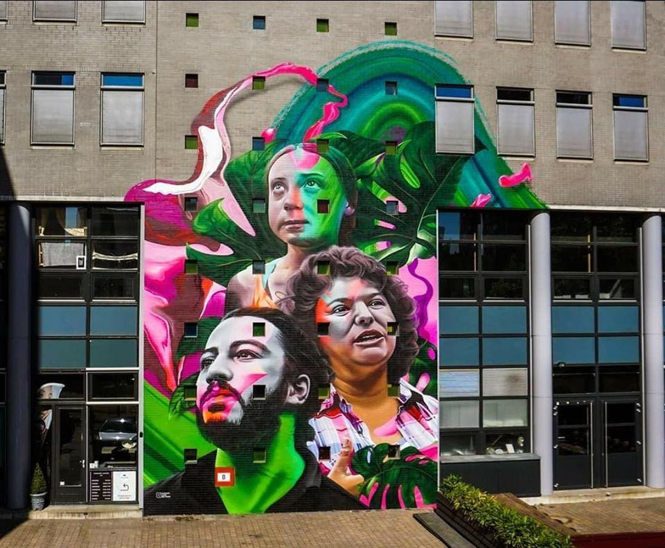 მურალი ცვლილებებისთვის: ვიტალი საფაროვი, გრეტა ტუნბერგი და ბერტა კასერასი