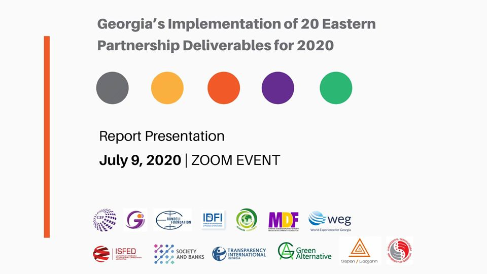 Presentation of a report: Georgia's Implementation of 20 Eastern Partnership Deliverables for 2020