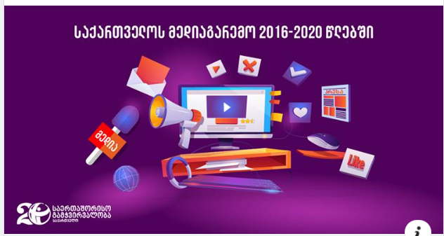 Media environment of Georgia in 2016-2020 years