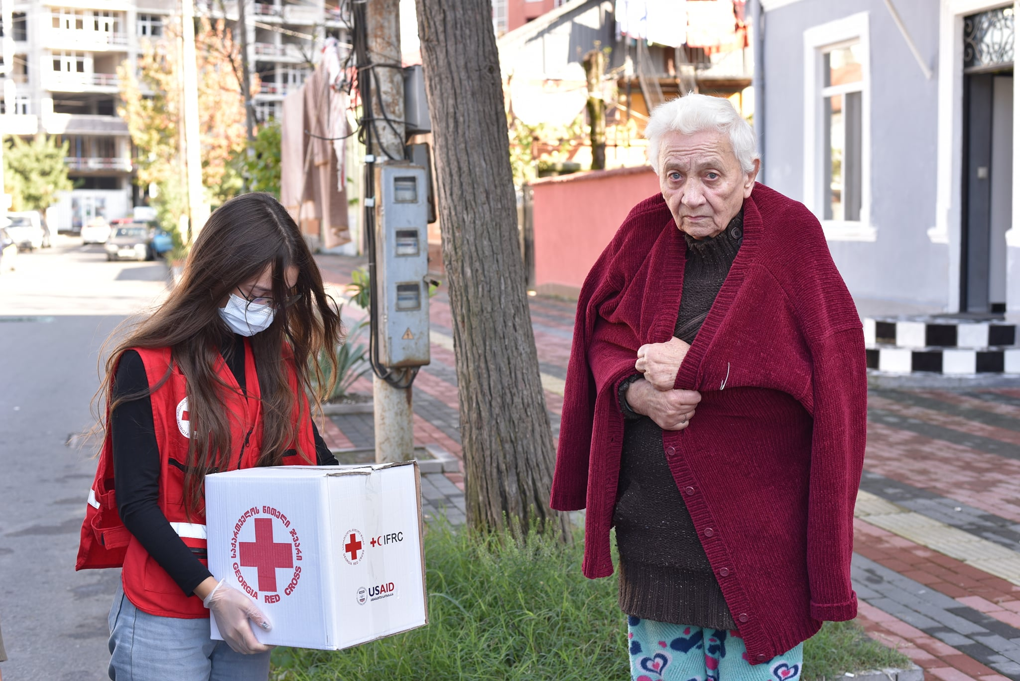 GRCS continues to distribute food and hygiene parcels to the specific group of the community in Batumi
