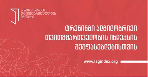 ტრენინგი ადგილობრივი თვითმმართველობის ინდექსის ადგილობრივი შემფასებლებისთვის