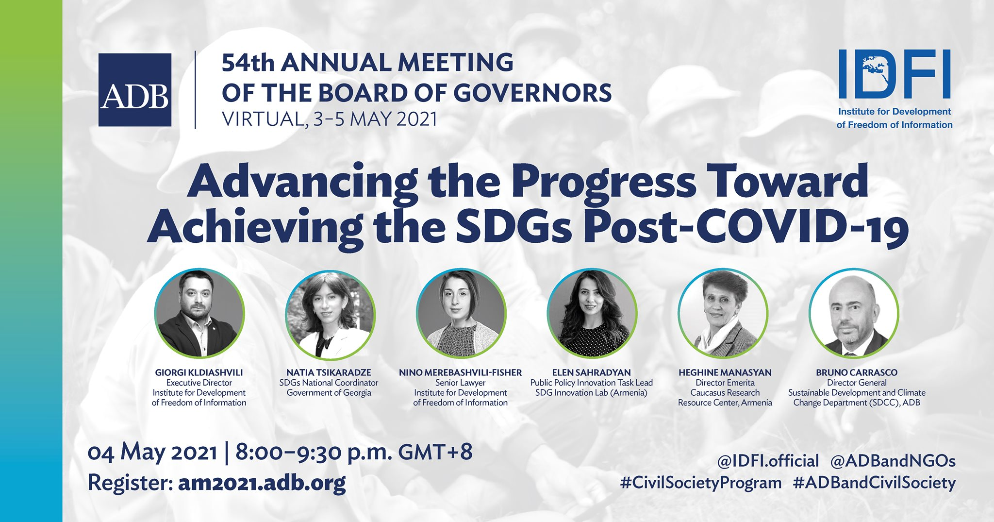 Advancing the Progress toward Achieving the SDGs Post-Covid-19 - IDFI's Panel Discussion for the 54th Annual Meeting of ADB