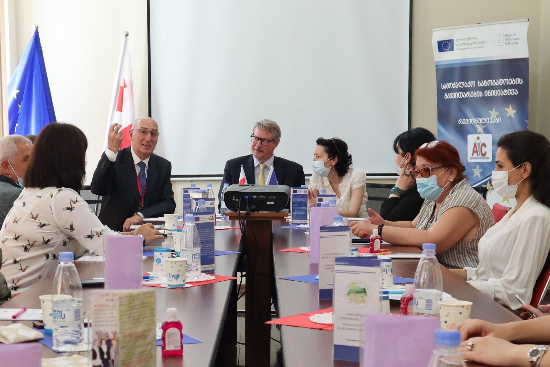 EU Ambassador Mr. Carl Hartzell visited Racha-Lechkhumi and Kvemo Svaneti regional hub