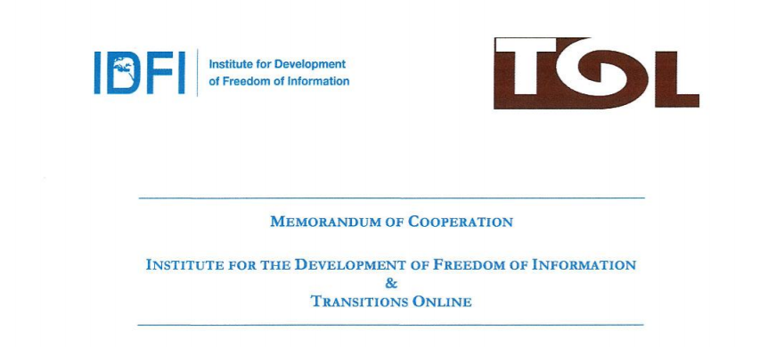 IDFI-მ და Transitions Online-მა თანამშრომლობის მემორანდუმი გააფორმეს
