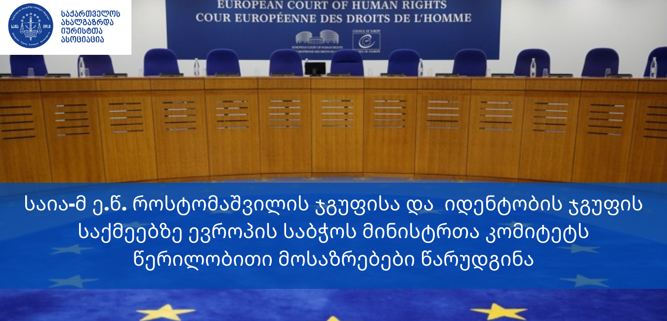 GYLA submits written opinions to Council of Europe Committee Ministers